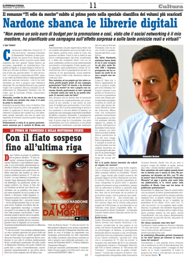 alessandro nardone - primo in classifica ibooks